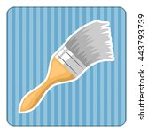 paint brush colorful icon.... | Shutterstock .eps vector #443793739