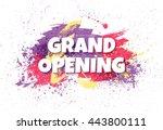 grand opening horizontal banner ... | Shutterstock .eps vector #443800111