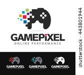 logo of a stylized game pad...   Shutterstock .eps vector #443801944