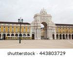 commerce square  lisbon ...   Shutterstock . vector #443803729