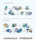 technical support  finance... | Shutterstock . vector #443806669