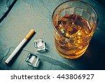 scotch on rock background | Shutterstock . vector #443806927