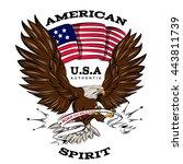 Spirit Of Usa Emblem With...