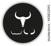 silhouettes of horns icon. | Shutterstock .eps vector #443813341