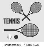 drawing clipart tennis... | Shutterstock .eps vector #443817631