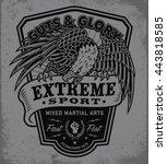 extreme sport eagle crest...   Shutterstock .eps vector #443818585