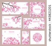 greeting cards vector template... | Shutterstock .eps vector #443821201