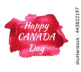 happy canada day holiday ... | Shutterstock .eps vector #443822197