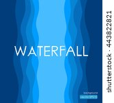 waterfall background in... | Shutterstock .eps vector #443822821
