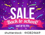 flyer back to school sale | Shutterstock .eps vector #443824669