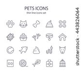 pets icons. | Shutterstock .eps vector #443826064