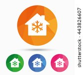 air conditioning indoors icon.... | Shutterstock .eps vector #443826607