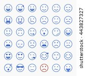set of emoticons  emoji and... | Shutterstock .eps vector #443827327