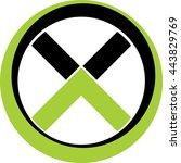 monogram x   Shutterstock .eps vector #443829769