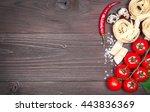 italian food background on... | Shutterstock . vector #443836369