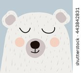 illustration of cute bear | Shutterstock .eps vector #443842831