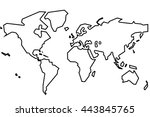 the world. simple | Shutterstock . vector #443845765