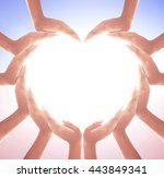 world health day concept  many...   Shutterstock . vector #443849341
