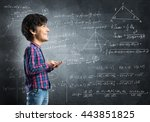 he has smart head | Shutterstock . vector #443851825