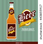 beer bottle icon. drink and... | Shutterstock .eps vector #443855917