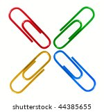 Colorful paper clips - stock photo
