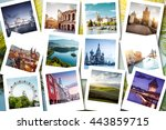 bucket list destinations   euro ... | Shutterstock . vector #443859715