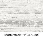 vector scratched wooden texture ... | Shutterstock .eps vector #443873605
