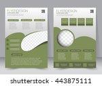 abstract flyer design... | Shutterstock .eps vector #443875111