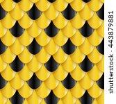 golden fish scales seamless... | Shutterstock .eps vector #443879881