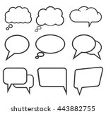 speech bubbles cloud icons set ... | Shutterstock .eps vector #443882755