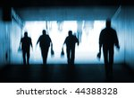 abstract blur silhouette of... | Shutterstock . vector #44388328
