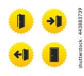 doors icons. emergency exit... | Shutterstock .eps vector #443883739