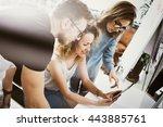 coworkers team work modern... | Shutterstock . vector #443885761