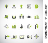 business training icon set | Shutterstock .eps vector #443888509