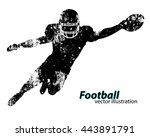 football player silhouette.... | Shutterstock .eps vector #443891791