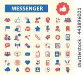 messenger icons   Shutterstock .eps vector #443896021
