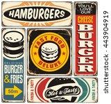 Retro Burger Signs Collection...