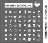 kitchen cooking icons | Shutterstock .eps vector #443905081