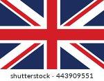 british flag   stock vector  | Shutterstock .eps vector #443909551