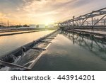 water treatment plant at sunset | Shutterstock . vector #443914201