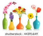 Colorful Spring Flowers In...