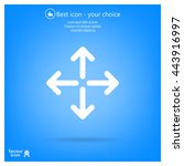 arrows vector icon   Shutterstock .eps vector #443916997