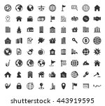 real estate icons set | Shutterstock .eps vector #443919595