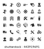 service icons set | Shutterstock .eps vector #443919691