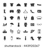 fashion icons set   Shutterstock .eps vector #443920267