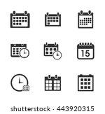 calendar icons  | Shutterstock .eps vector #443920315