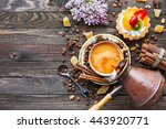 Rustic Wooden Background With...