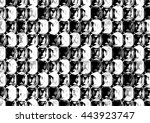 abstract drawn black and white... | Shutterstock . vector #443923747