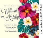 wedding invitation with...   Shutterstock .eps vector #443925445