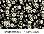 trendy seamless floral ditsy... | Shutterstock .eps vector #443933821